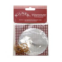 Kilner Pack Of 100 Cellophane Disc With Bands